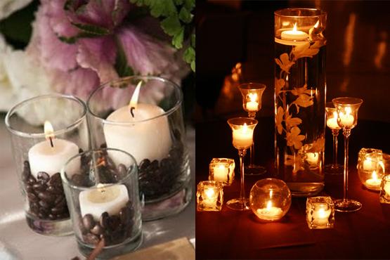 7 id ias diferentes no centro de decora o de mesa de casamento dicas dicas noivas - Centro mesa velas ...