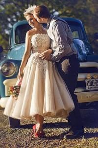 vestido de noiva curto colorido