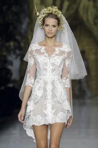 vestido de noiva curto mullet