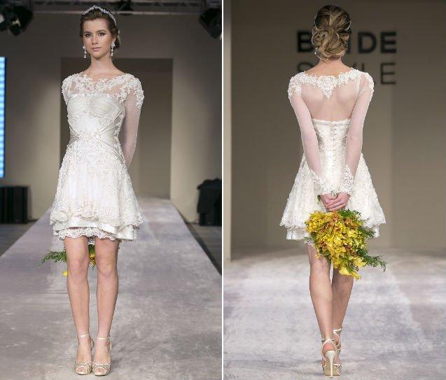 Vestidos de noiva curto - opção para as mulheres modernas