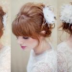Modelos de penteados – dicas com franjas para noivas