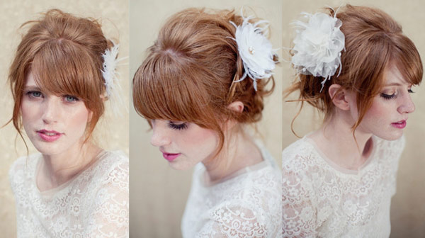 Penteados de noiva com franjas - dicas, passo a passo