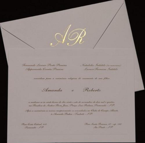 Modelos de convites de casamento tradicional - dicas, passo a passo