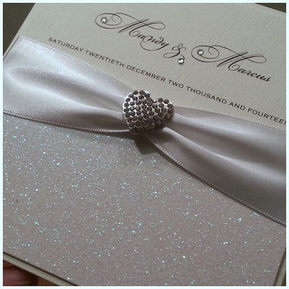 Pink Glitter Wedding Invitations with adorable invitation layout