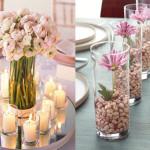 7 idéias diferentes no centro de decoração de mesa de casamento – dicas
