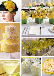 decoracao amarelo